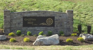 Griffitts Mill sign (2)
